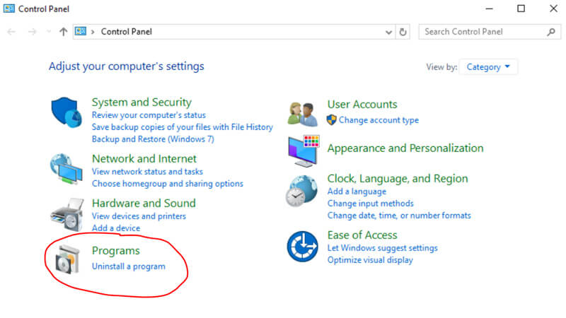 Uninstall ICQ in Windows 10